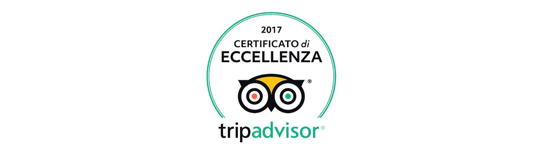 Certificato tripadvisor 2017