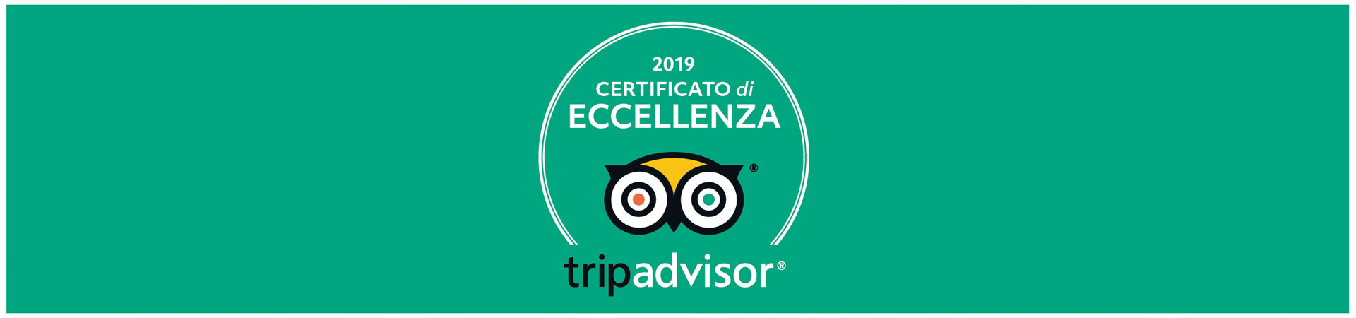 Certificato tripadvisor 2019